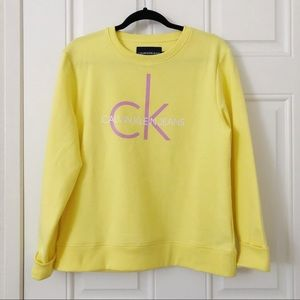 CALVIN KLEIN vintage yellow pullover sweater